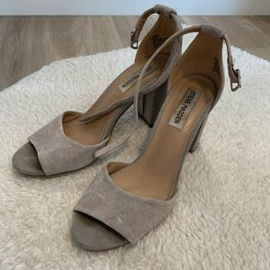 Steve Madden Grey Suede Heels